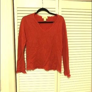 NWOT Burnt Orange Cashmere Sweater